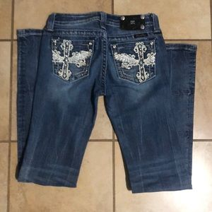Junior Miss Me Boot Cut Jeans